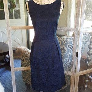 Loft Blue & Black Dress
